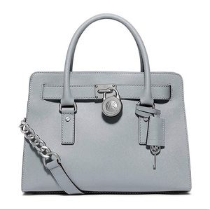 Michael Kors Large East West Satchel in Dusty Blue